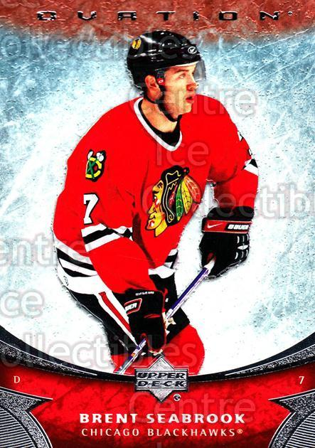 2006-07 UD Ovation #160 Brent Seabrook<br/>3 In Stock - $1.00 each - <a href=https://centericecollectibles.foxycart.com/cart?name=2006-07%20UD%20Ovation%20%23160%20Brent%20Seabrook...&quantity_max=3&price=$1.00&code=215074 class=foxycart> Buy it now! </a>