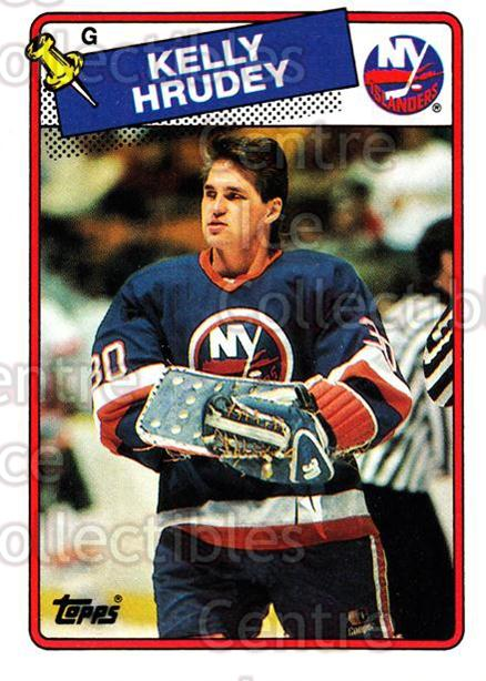 1988-89 Topps #155 Kelly Hrudey<br/>7 In Stock - $1.00 each - <a href=https://centericecollectibles.foxycart.com/cart?name=1988-89%20Topps%20%23155%20Kelly%20Hrudey...&quantity_max=7&price=$1.00&code=21514 class=foxycart> Buy it now! </a>