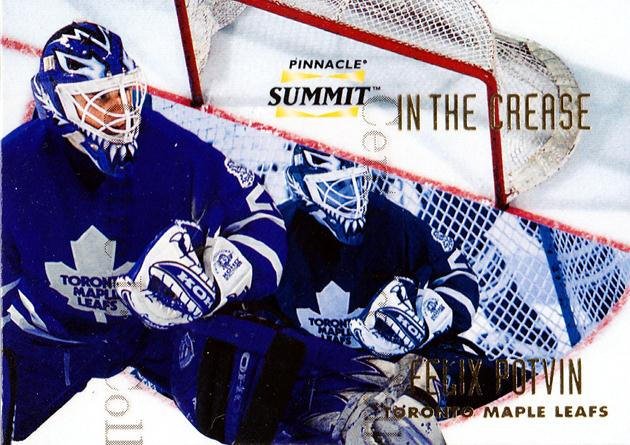 1996-97 Summit In The Crease #9 Felix Potvin<br/>2 In Stock - $5.00 each - <a href=https://centericecollectibles.foxycart.com/cart?name=1996-97%20Summit%20In%20The%20Crease%20%239%20Felix%20Potvin...&quantity_max=2&price=$5.00&code=215175 class=foxycart> Buy it now! </a>