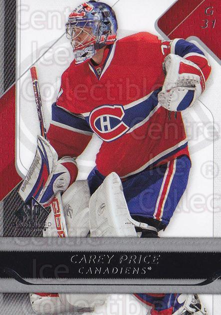 2008-09 Sp Game Used #55 Carey Price<br/>2 In Stock - $3.00 each - <a href=https://centericecollectibles.foxycart.com/cart?name=2008-09%20Sp%20Game%20Used%20%2355%20Carey%20Price...&quantity_max=2&price=$3.00&code=215233 class=foxycart> Buy it now! </a>