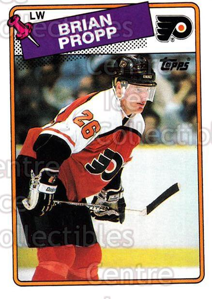 1988-89 Topps #168 Brian Propp<br/>6 In Stock - $1.00 each - <a href=https://centericecollectibles.foxycart.com/cart?name=1988-89%20Topps%20%23168%20Brian%20Propp...&quantity_max=6&price=$1.00&code=21527 class=foxycart> Buy it now! </a>