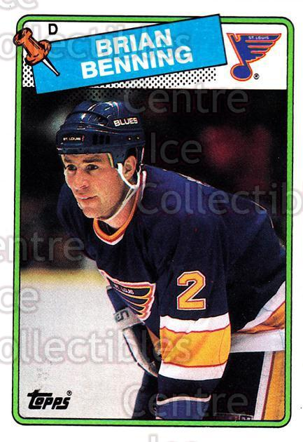 1988-89 Topps #174 Brian Benning<br/>5 In Stock - $1.00 each - <a href=https://centericecollectibles.foxycart.com/cart?name=1988-89%20Topps%20%23174%20Brian%20Benning...&quantity_max=5&price=$1.00&code=21534 class=foxycart> Buy it now! </a>