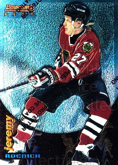 1994-95 Finest Bowmans Best Blue #5 Jeremy Roenick<br/>9 In Stock - $2.00 each - <a href=https://centericecollectibles.foxycart.com/cart?name=1994-95%20Finest%20Bowmans%20Best%20Blue%20%235%20Jeremy%20Roenick...&quantity_max=9&price=$2.00&code=215379 class=foxycart> Buy it now! </a>