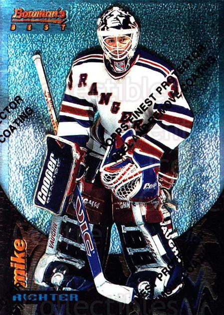 1994-95 Finest Bowmans Best Blue #13 Mike Richter<br/>3 In Stock - $2.00 each - <a href=https://centericecollectibles.foxycart.com/cart?name=1994-95%20Finest%20Bowmans%20Best%20Blue%20%2313%20Mike%20Richter...&quantity_max=3&price=$2.00&code=215381 class=foxycart> Buy it now! </a>