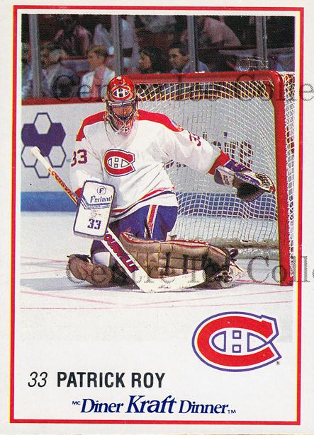 1989-90 Kraft #25 Patrick Roy<br/>1 In Stock - $10.00 each - <a href=https://centericecollectibles.foxycart.com/cart?name=1989-90%20Kraft%20%2325%20Patrick%20Roy...&quantity_max=1&price=$10.00&code=215399 class=foxycart> Buy it now! </a>