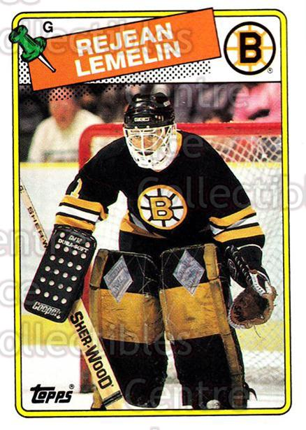 1988-89 Topps #186 Rejean Lemelin<br/>5 In Stock - $1.00 each - <a href=https://centericecollectibles.foxycart.com/cart?name=1988-89%20Topps%20%23186%20Rejean%20Lemelin...&price=$1.00&code=21547 class=foxycart> Buy it now! </a>