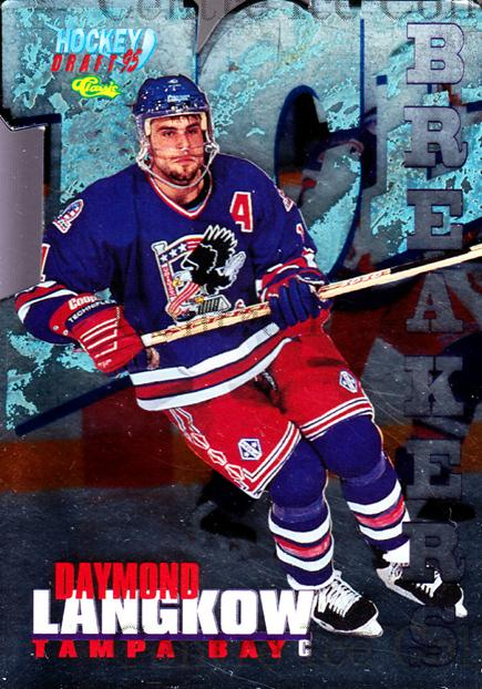 1995 Classic Hockey Draft Ice Breakers Die Cuts #5 Daymond Langkow<br/>3 In Stock - $5.00 each - <a href=https://centericecollectibles.foxycart.com/cart?name=1995%20Classic%20Hockey%20Draft%20Ice%20Breakers%20Die%20Cuts%20%235%20Daymond%20Langkow...&quantity_max=3&price=$5.00&code=215525 class=foxycart> Buy it now! </a>
