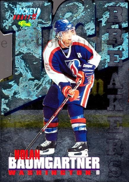 1995 Classic Hockey Draft Ice Breakers Die Cuts #20 Nolan Baumgartner<br/>2 In Stock - $5.00 each - <a href=https://centericecollectibles.foxycart.com/cart?name=1995%20Classic%20Hockey%20Draft%20Ice%20Breakers%20Die%20Cuts%20%2320%20Nolan%20Baumgartn...&quantity_max=2&price=$5.00&code=215537 class=foxycart> Buy it now! </a>