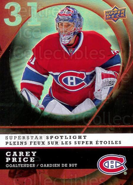 2008-09 McDonald's Upper Deck Superstar Spotlight #1 Carey Price<br/>2 In Stock - $3.00 each - <a href=https://centericecollectibles.foxycart.com/cart?name=2008-09%20McDonald's%20Upper%20Deck%20Superstar%20Spotlight%20%231%20Carey%20Price...&price=$3.00&code=215538 class=foxycart> Buy it now! </a>