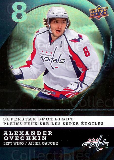 2008-09 McDonald's Upper Deck Superstar Spotlight #13 Alexander Ovechkin<br/>5 In Stock - $3.00 each - <a href=https://centericecollectibles.foxycart.com/cart?name=2008-09%20McDonald's%20Upper%20Deck%20Superstar%20Spotlight%20%2313%20Alexander%20Ovech...&price=$3.00&code=215542 class=foxycart> Buy it now! </a>