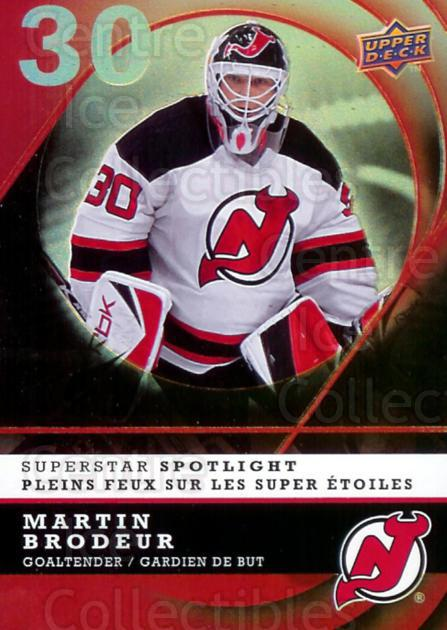 2008-09 McDonald's Upper Deck Superstar Spotlight #14 Martin Brodeur<br/>2 In Stock - $3.00 each - <a href=https://centericecollectibles.foxycart.com/cart?name=2008-09%20McDonald's%20Upper%20Deck%20Superstar%20Spotlight%20%2314%20Martin%20Brodeur...&price=$3.00&code=215543 class=foxycart> Buy it now! </a>