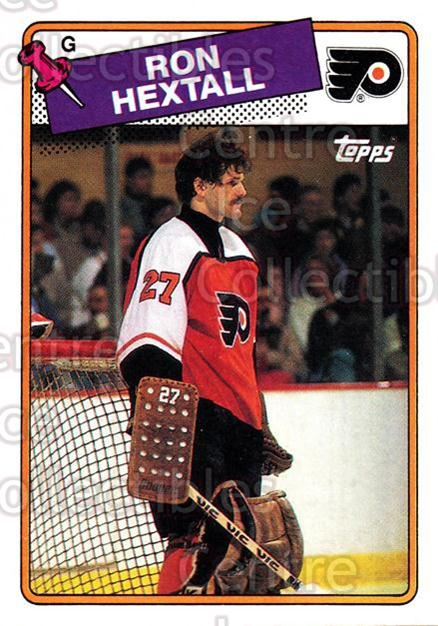 1988-89 Topps #34 Ron Hextall<br/>5 In Stock - $1.00 each - <a href=https://centericecollectibles.foxycart.com/cart?name=1988-89%20Topps%20%2334%20Ron%20Hextall...&quantity_max=5&price=$1.00&code=21574 class=foxycart> Buy it now! </a>