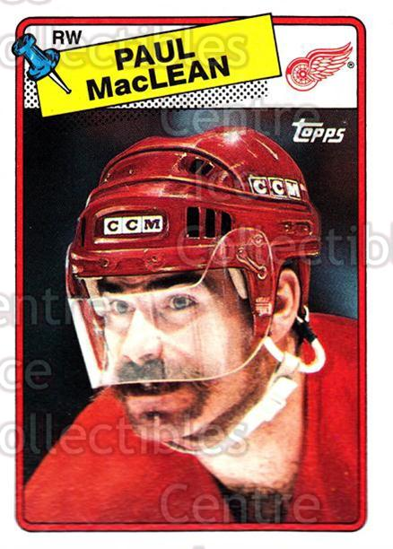 1988-89 Topps #38 Paul MacLean<br/>7 In Stock - $1.00 each - <a href=https://centericecollectibles.foxycart.com/cart?name=1988-89%20Topps%20%2338%20Paul%20MacLean...&quantity_max=7&price=$1.00&code=21578 class=foxycart> Buy it now! </a>
