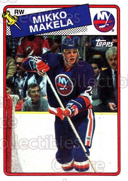 1988-89 Topps #44 Mikko Makela<br/>7 In Stock - $1.00 each - <a href=https://centericecollectibles.foxycart.com/cart?name=1988-89%20Topps%20%2344%20Mikko%20Makela...&quantity_max=7&price=$1.00&code=21585 class=foxycart> Buy it now! </a>
