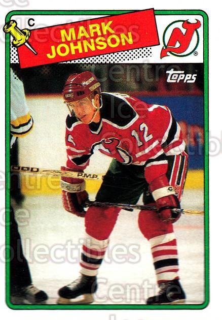 1988-89 Topps #45 Mark Johnson<br/>7 In Stock - $1.00 each - <a href=https://centericecollectibles.foxycart.com/cart?name=1988-89%20Topps%20%2345%20Mark%20Johnson...&quantity_max=7&price=$1.00&code=21586 class=foxycart> Buy it now! </a>