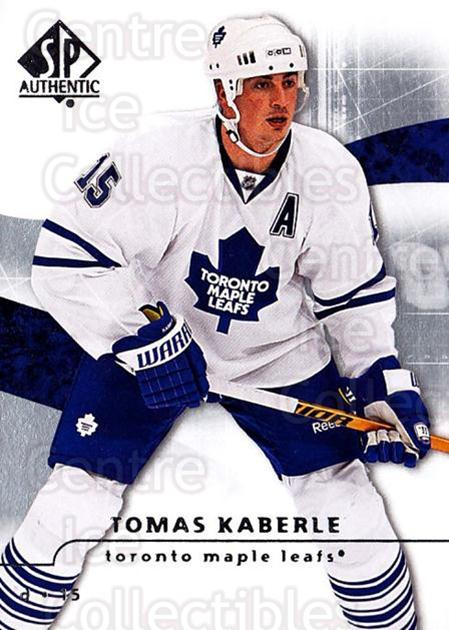 2008-09 Sp Authentic #7 Tomas Kaberle<br/>5 In Stock - $1.00 each - <a href=https://centericecollectibles.foxycart.com/cart?name=2008-09%20Sp%20Authentic%20%237%20Tomas%20Kaberle...&quantity_max=5&price=$1.00&code=215973 class=foxycart> Buy it now! </a>