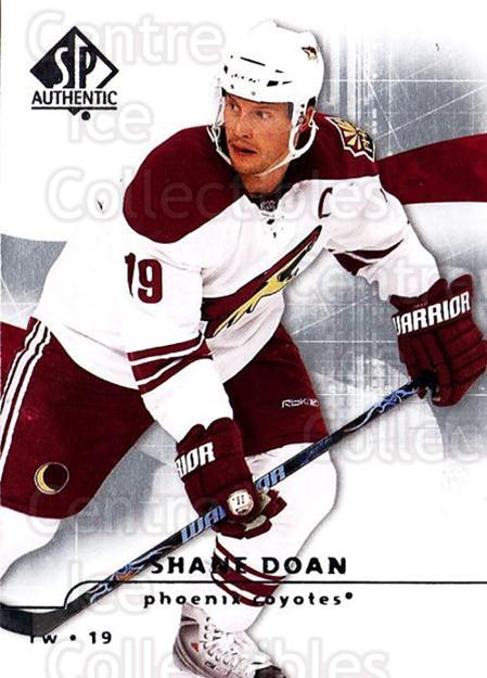 2008-09 Sp Authentic #12 Shane Doan<br/>5 In Stock - $1.00 each - <a href=https://centericecollectibles.foxycart.com/cart?name=2008-09%20Sp%20Authentic%20%2312%20Shane%20Doan...&quantity_max=5&price=$1.00&code=215978 class=foxycart> Buy it now! </a>