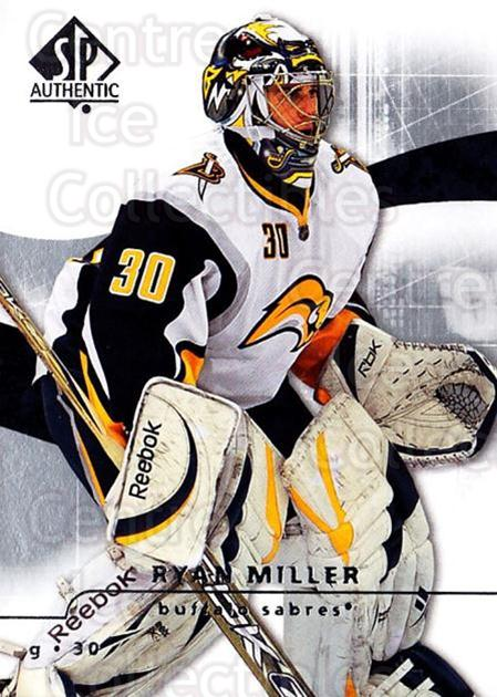 2008-09 Sp Authentic #15 Ryan Miller<br/>5 In Stock - $1.00 each - <a href=https://centericecollectibles.foxycart.com/cart?name=2008-09%20Sp%20Authentic%20%2315%20Ryan%20Miller...&quantity_max=5&price=$1.00&code=215981 class=foxycart> Buy it now! </a>