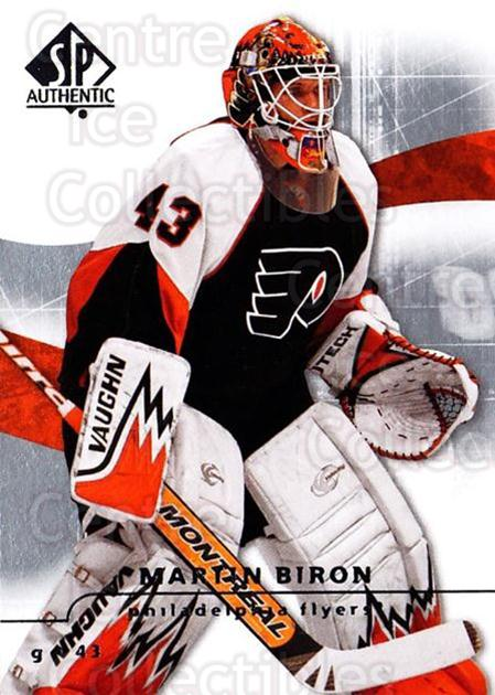 2008-09 Sp Authentic #46 Martin Biron<br/>5 In Stock - $1.00 each - <a href=https://centericecollectibles.foxycart.com/cart?name=2008-09%20Sp%20Authentic%20%2346%20Martin%20Biron...&quantity_max=5&price=$1.00&code=216012 class=foxycart> Buy it now! </a>