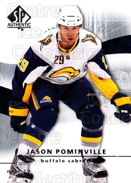 2008-09 Sp Authentic #62 Jason Pominville<br/>5 In Stock - $1.00 each - <a href=https://centericecollectibles.foxycart.com/cart?name=2008-09%20Sp%20Authentic%20%2362%20Jason%20Pominvill...&quantity_max=5&price=$1.00&code=216028 class=foxycart> Buy it now! </a>