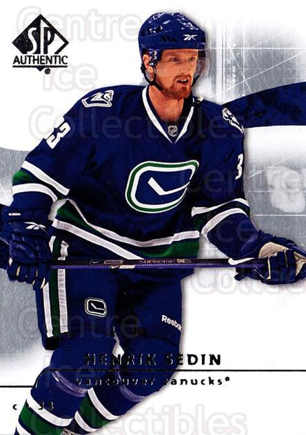 2008-09 Sp Authentic #68 Henrik Sedin<br/>5 In Stock - $1.00 each - <a href=https://centericecollectibles.foxycart.com/cart?name=2008-09%20Sp%20Authentic%20%2368%20Henrik%20Sedin...&quantity_max=5&price=$1.00&code=216034 class=foxycart> Buy it now! </a>
