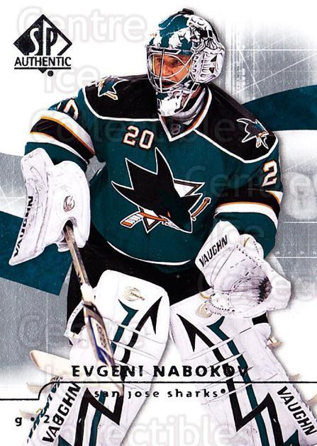 2008-09 Sp Authentic #72 Evgeni Nabokov<br/>5 In Stock - $1.00 each - <a href=https://centericecollectibles.foxycart.com/cart?name=2008-09%20Sp%20Authentic%20%2372%20Evgeni%20Nabokov...&quantity_max=5&price=$1.00&code=216038 class=foxycart> Buy it now! </a>
