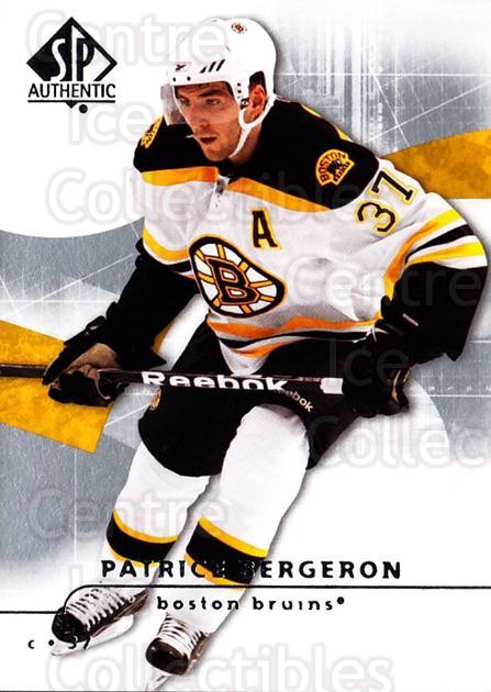 2008-09 Sp Authentic #93 Patrice Bergeron<br/>3 In Stock - $2.00 each - <a href=https://centericecollectibles.foxycart.com/cart?name=2008-09%20Sp%20Authentic%20%2393%20Patrice%20Bergero...&quantity_max=3&price=$2.00&code=216059 class=foxycart> Buy it now! </a>