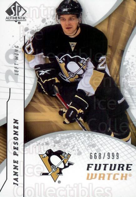 2008-09 Sp Authentic #190 Janne Pesonen<br/>1 In Stock - $5.00 each - <a href=https://centericecollectibles.foxycart.com/cart?name=2008-09%20Sp%20Authentic%20%23190%20Janne%20Pesonen...&price=$5.00&code=216156 class=foxycart> Buy it now! </a>