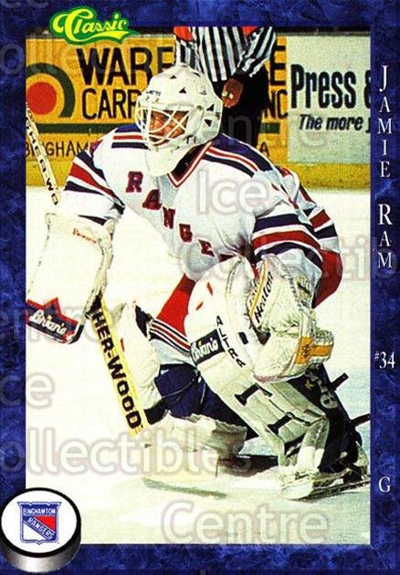 1994-95 Binghamton Rangers #16 Jamie Ram<br/>2 In Stock - $3.00 each - <a href=https://centericecollectibles.foxycart.com/cart?name=1994-95%20Binghamton%20Rangers%20%2316%20Jamie%20Ram...&quantity_max=2&price=$3.00&code=2161 class=foxycart> Buy it now! </a>