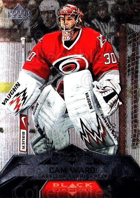 2007-08 Black Diamond #91 Cam Ward<br/>2 In Stock - $2.00 each - <a href=https://centericecollectibles.foxycart.com/cart?name=2007-08%20Black%20Diamond%20%2391%20Cam%20Ward...&price=$2.00&code=216273 class=foxycart> Buy it now! </a>