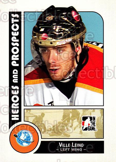 2008-09 ITG Heroes and Prospects #9 Ville Leino<br/>129 In Stock - $1.00 each - <a href=https://centericecollectibles.foxycart.com/cart?name=2008-09%20ITG%20Heroes%20and%20Prospects%20%239%20Ville%20Leino...&price=$1.00&code=216387 class=foxycart> Buy it now! </a>