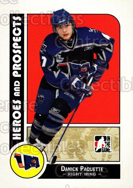 2008-09 ITG Heroes and Prospects #86 Danick Paquette<br/>44 In Stock - $1.00 each - <a href=https://centericecollectibles.foxycart.com/cart?name=2008-09%20ITG%20Heroes%20and%20Prospects%20%2386%20Danick%20Paquette...&price=$1.00&code=216464 class=foxycart> Buy it now! </a>