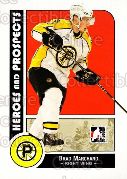 2008-09 ITG Heroes and Prospects #107 Brad Marchand<br/>9 In Stock - $2.00 each - <a href=https://centericecollectibles.foxycart.com/cart?name=2008-09%20ITG%20Heroes%20and%20Prospects%20%23107%20Brad%20Marchand...&price=$2.00&code=216485 class=foxycart> Buy it now! </a>