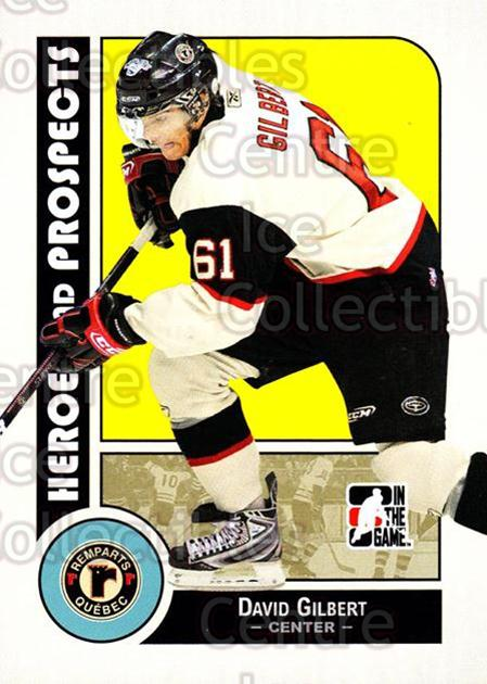 2008-09 ITG Heroes and Prospects #125 David Gilbert<br/>12 In Stock - $1.00 each - <a href=https://centericecollectibles.foxycart.com/cart?name=2008-09%20ITG%20Heroes%20and%20Prospects%20%23125%20David%20Gilbert...&price=$1.00&code=216503 class=foxycart> Buy it now! </a>