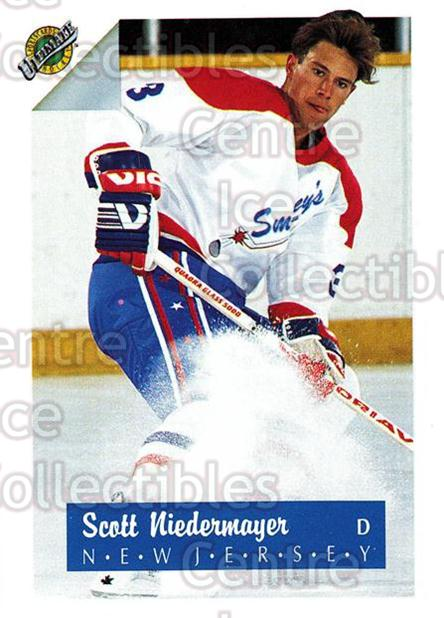 1991 Ultimate Draft French #3 Scott Niedermayer<br/>9 In Stock - $2.00 each - <a href=https://centericecollectibles.foxycart.com/cart?name=1991%20Ultimate%20Draft%20French%20%233%20Scott%20Niedermay...&quantity_max=9&price=$2.00&code=216529 class=foxycart> Buy it now! </a>