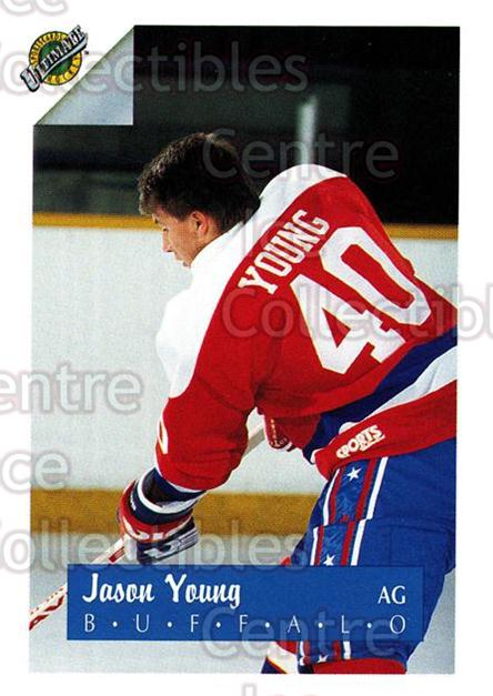 1991 Ultimate Draft French #40 Jason Young<br/>11 In Stock - $1.00 each - <a href=https://centericecollectibles.foxycart.com/cart?name=1991%20Ultimate%20Draft%20French%20%2340%20Jason%20Young...&quantity_max=11&price=$1.00&code=216536 class=foxycart> Buy it now! </a>