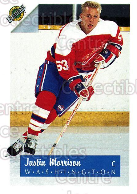 1991 Ultimate Draft French #52 Justin Morrison<br/>10 In Stock - $1.00 each - <a href=https://centericecollectibles.foxycart.com/cart?name=1991%20Ultimate%20Draft%20French%20%2352%20Justin%20Morrison...&quantity_max=10&price=$1.00&code=216540 class=foxycart> Buy it now! </a>
