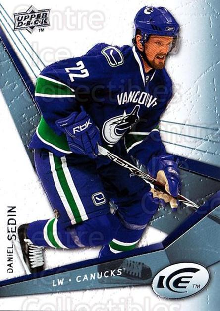 2008-09 UD Ice #22 Daniel Sedin<br/>4 In Stock - $1.00 each - <a href=https://centericecollectibles.foxycart.com/cart?name=2008-09%20UD%20Ice%20%2322%20Daniel%20Sedin...&price=$1.00&code=216567 class=foxycart> Buy it now! </a>