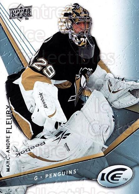 2008-09 UD Ice #47 Marc-Andre Fleury<br/>4 In Stock - $2.00 each - <a href=https://centericecollectibles.foxycart.com/cart?name=2008-09%20UD%20Ice%20%2347%20Marc-Andre%20Fleu...&quantity_max=4&price=$2.00&code=216592 class=foxycart> Buy it now! </a>