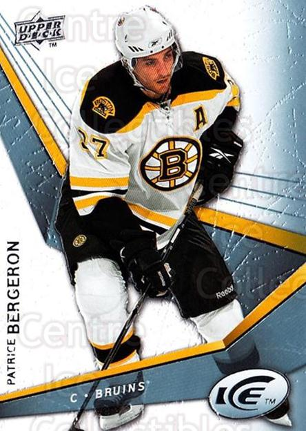 2008-09 UD Ice #68 Patrice Bergeron<br/>3 In Stock - $2.00 each - <a href=https://centericecollectibles.foxycart.com/cart?name=2008-09%20UD%20Ice%20%2368%20Patrice%20Bergero...&quantity_max=3&price=$2.00&code=216613 class=foxycart> Buy it now! </a>