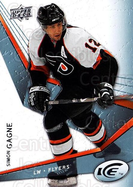 2008-09 UD Ice #90 Simon Gagne<br/>5 In Stock - $1.00 each - <a href=https://centericecollectibles.foxycart.com/cart?name=2008-09%20UD%20Ice%20%2390%20Simon%20Gagne...&quantity_max=5&price=$1.00&code=216635 class=foxycart> Buy it now! </a>