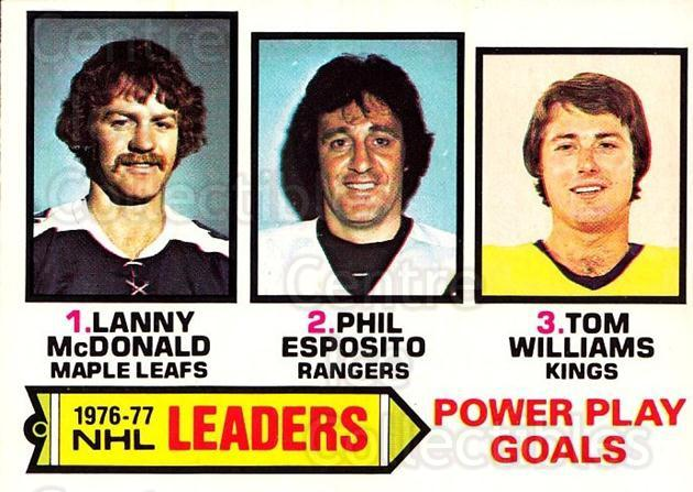 1977-78 O-pee-chee #5 Phil Esposito, Lanny McDonald, Tom Williams<br/>2 In Stock - $5.00 each - <a href=https://centericecollectibles.foxycart.com/cart?name=1977-78%20O-pee-chee%20%235%20Phil%20Esposito,%20...&quantity_max=2&price=$5.00&code=216959 class=foxycart> Buy it now! </a>