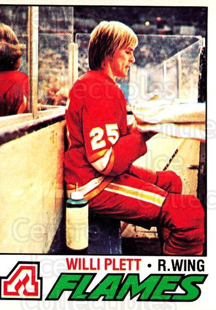 1977-78 O-pee-chee #17 Willi Plett<br/>1 In Stock - $2.00 each - <a href=https://centericecollectibles.foxycart.com/cart?name=1977-78%20O-pee-chee%20%2317%20Willi%20Plett...&quantity_max=1&price=$2.00&code=216971 class=foxycart> Buy it now! </a>