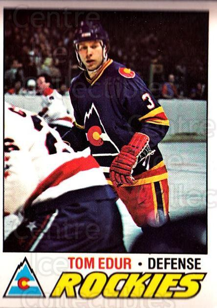 1977-78 O-pee-chee #169 Tom Edur<br/>1 In Stock - $2.00 each - <a href=https://centericecollectibles.foxycart.com/cart?name=1977-78%20O-pee-chee%20%23169%20Tom%20Edur...&quantity_max=1&price=$2.00&code=217123 class=foxycart> Buy it now! </a>