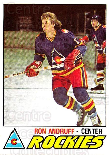 1977-78 O-pee-chee #288 Ron Andruff<br/>2 In Stock - $2.00 each - <a href=https://centericecollectibles.foxycart.com/cart?name=1977-78%20O-pee-chee%20%23288%20Ron%20Andruff...&quantity_max=2&price=$2.00&code=217242 class=foxycart> Buy it now! </a>
