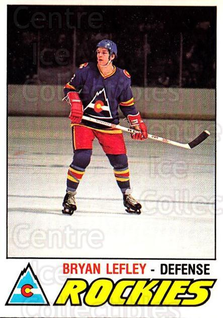 1977-78 O-pee-chee #297 Bryan Lefley<br/>2 In Stock - $2.00 each - <a href=https://centericecollectibles.foxycart.com/cart?name=1977-78%20O-pee-chee%20%23297%20Bryan%20Lefley...&quantity_max=2&price=$2.00&code=217251 class=foxycart> Buy it now! </a>