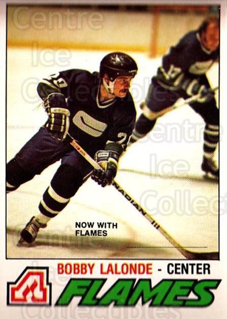 1977-78 O-pee-chee #313 Bobby Lalonde<br/>2 In Stock - $2.00 each - <a href=https://centericecollectibles.foxycart.com/cart?name=1977-78%20O-pee-chee%20%23313%20Bobby%20Lalonde...&quantity_max=2&price=$2.00&code=217267 class=foxycart> Buy it now! </a>