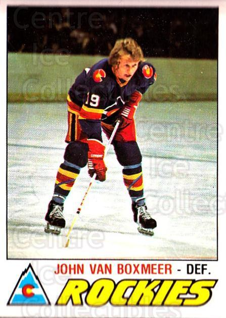 1977-78 O-pee-chee #315 John Van Boxmeer<br/>2 In Stock - $2.00 each - <a href=https://centericecollectibles.foxycart.com/cart?name=1977-78%20O-pee-chee%20%23315%20John%20Van%20Boxmee...&quantity_max=2&price=$2.00&code=217269 class=foxycart> Buy it now! </a>