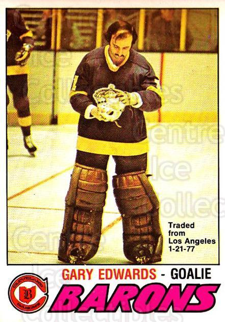 1977-78 O-pee-chee #345 Gary Edwards<br/>1 In Stock - $2.00 each - <a href=https://centericecollectibles.foxycart.com/cart?name=1977-78%20O-pee-chee%20%23345%20Gary%20Edwards...&price=$2.00&code=217299 class=foxycart> Buy it now! </a>
