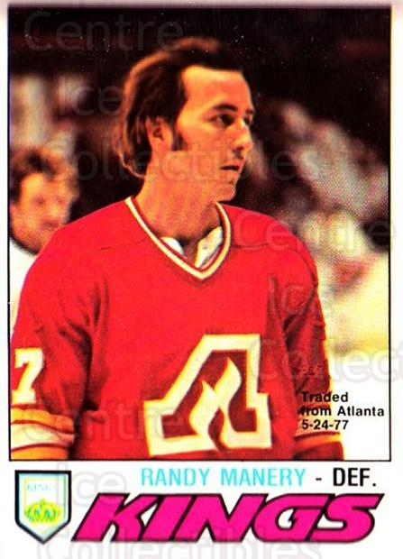 1977-78 O-pee-chee #389 Randy Manery<br/>1 In Stock - $2.00 each - <a href=https://centericecollectibles.foxycart.com/cart?name=1977-78%20O-pee-chee%20%23389%20Randy%20Manery...&quantity_max=1&price=$2.00&code=217343 class=foxycart> Buy it now! </a>